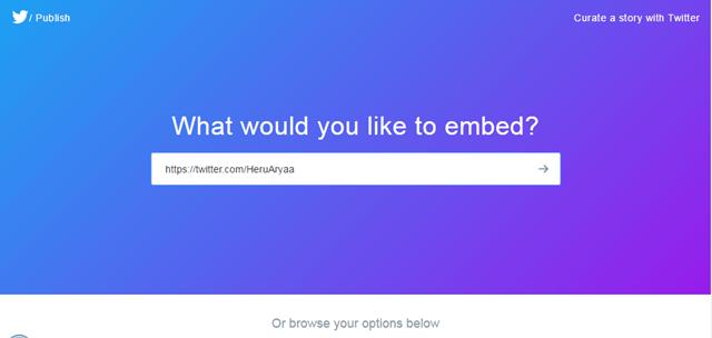 Cara memasang tombol follow twitter di Blog