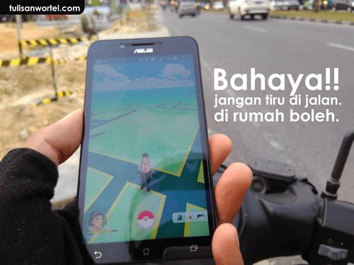 bahaya bermain pokemon go saat berkendara