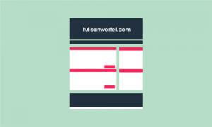merapikan template (tampilan) blog
