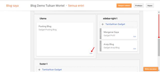 cara mengganti teks baca selanjutnya di blog