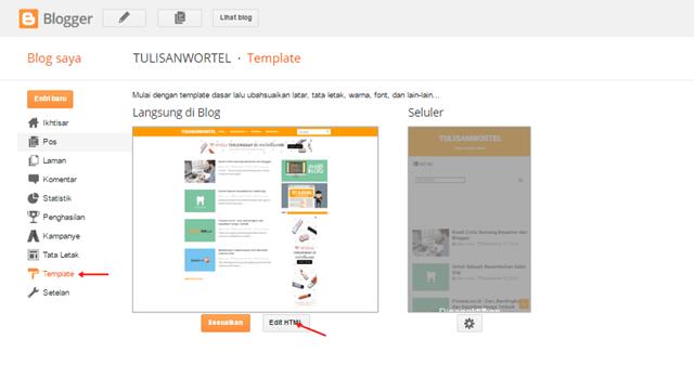 Contoh cara lengkap memasang meta tag twitter card di blogger