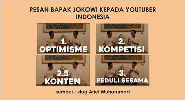 pesan presiden jokowi kepada youtuber Indonesia