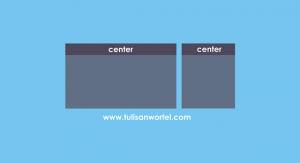 judul postingan dan widget di tengah