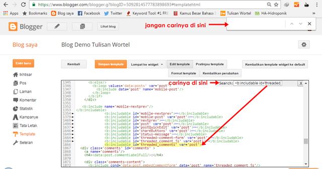 cara membuat scroll pada komentar di blog