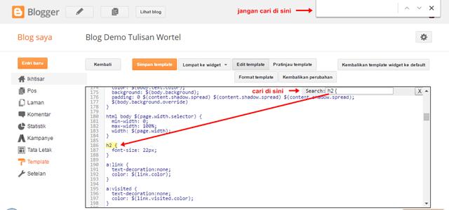 cara membuat widget dan tanggal postingan blog di tengah