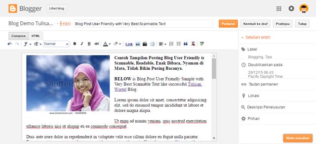cara menampilkan deskripsi pada postingan blog