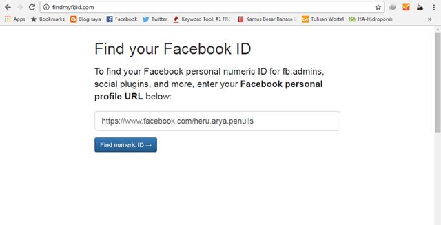 cara mengetahui id akun facebook kita