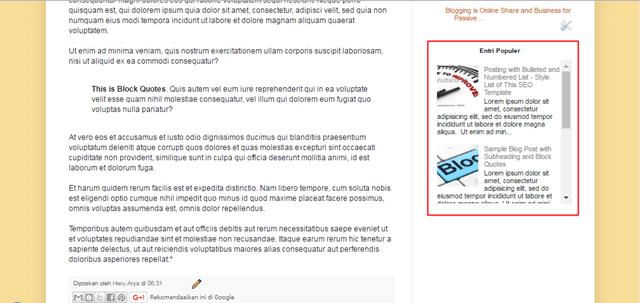 contoh hasil memasang scroll popular post di blog