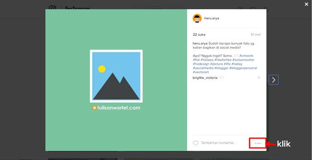 cara embed (sisipkan) foto dan video instagram di blog