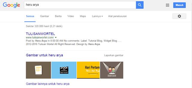 hasil pencarian heru arya di google