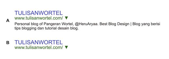 perbandingan contoh deskripsi blog