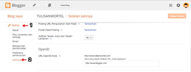 cara backup artikel, laman dan komentar di blogger