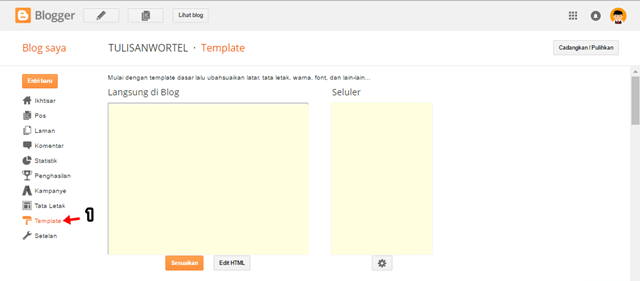 cara backup template di blogger