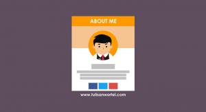membuat about me di blog