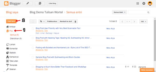 cara membuat about me sendiri di blog