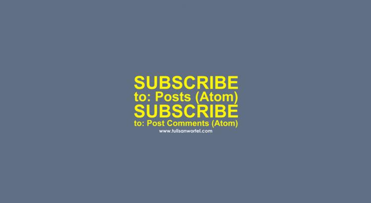 cara menghilangkan langgangan entri atom
