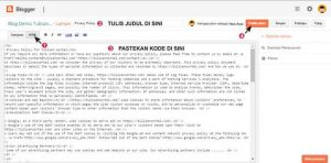 cara membuat privacy policy di blogspot