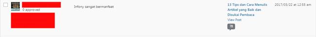 contoh komentar spam di blog