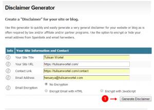 cara membuat disclaimer blog