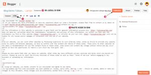 cara membuat disclaimer di blog