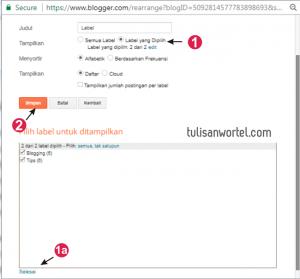 cara membuat idget label di blogger