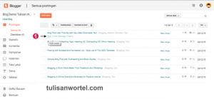 cara menghapus label di blog