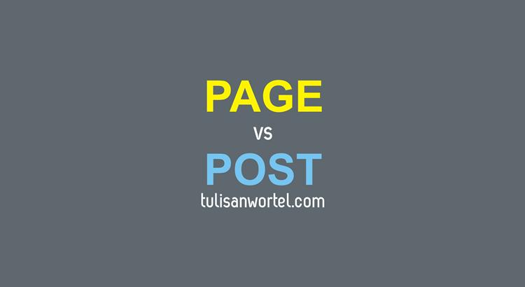 post dan page