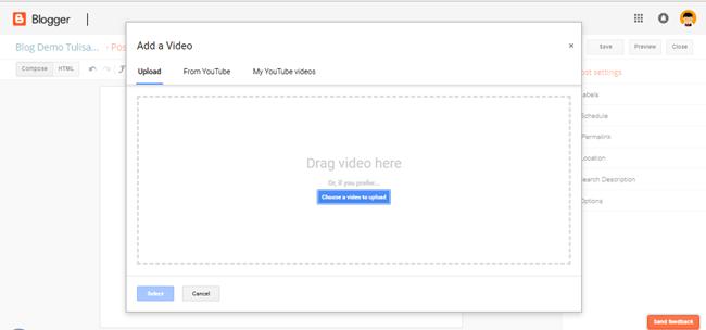 memasukkan video di blog
