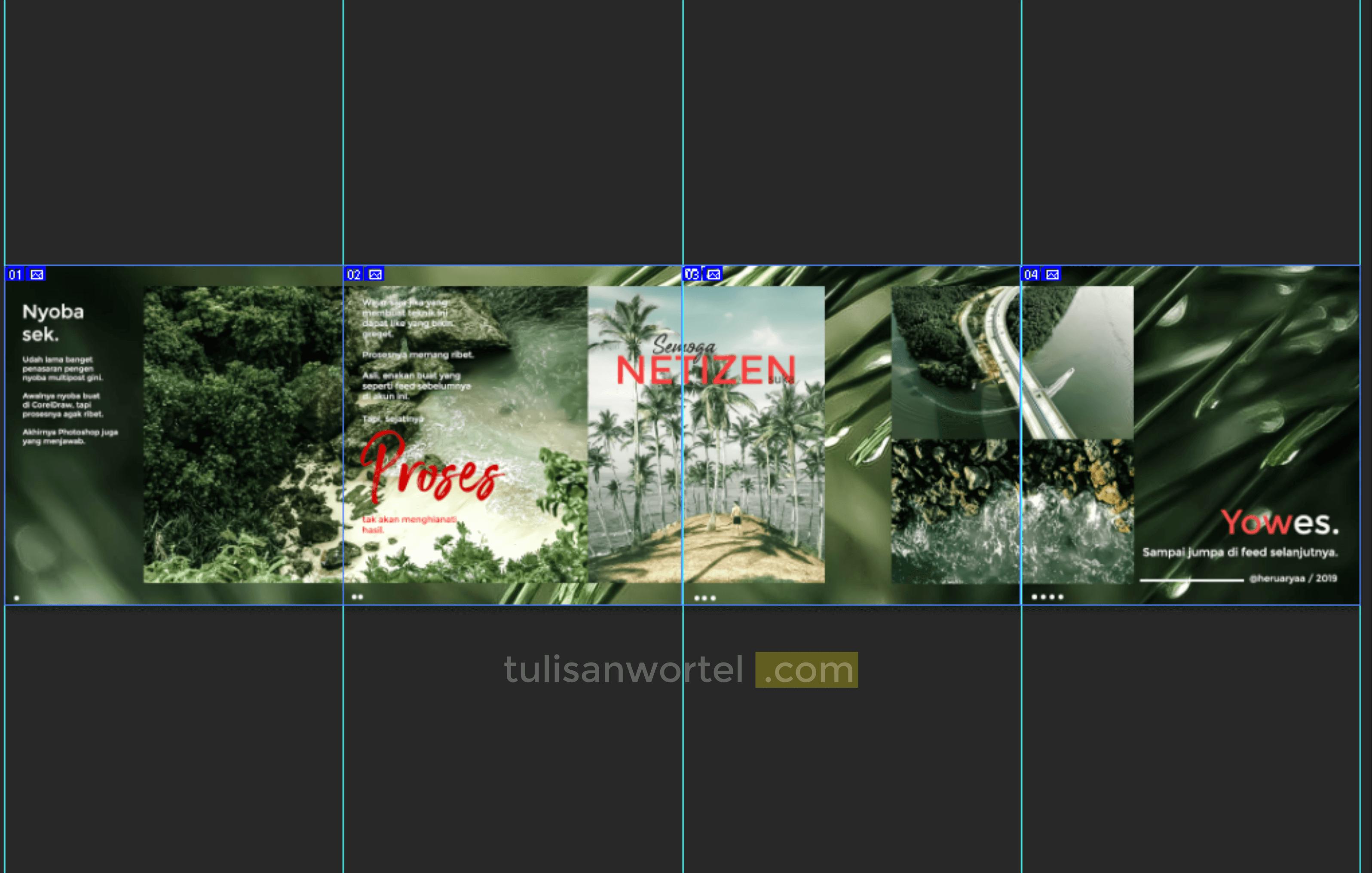 Cara Membuat Multiple Post Instagram Di Photoshop Tulisan Wortel